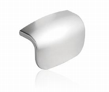 Swan knop Inox Loof of Chrome glans