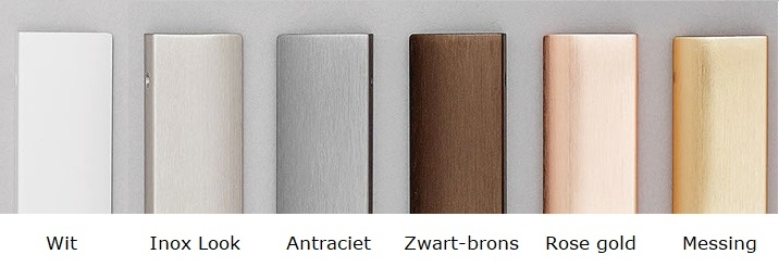 Infreesgreep Edge straight zwart/brons