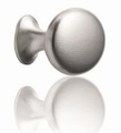 Ovale Simple knop Inox Look