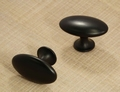 Knop Oval Simple Black